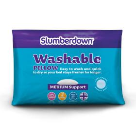 Slumberdown Truly Washable Medium Support Pillow