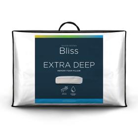 Snuggledown Bliss Memory Foam Extra Deep Firm Support Pillow