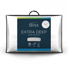 Snuggledown Bliss Memory Foam Extra Deep Firm Support Pillow, Cool Touch Cover