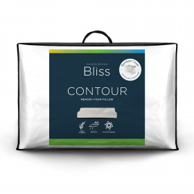 Snuggledown Bliss Memory Foam Contour Firm Support Pillow, Bamboo Cover