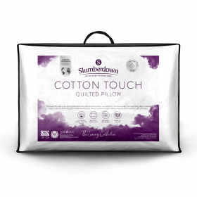 Slumberdown Luxury Cotton Touch Quilted Medium/Firm Support Pillow
