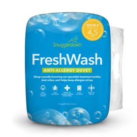 Snuggledown Freshwash Anti Allergy 4.5 Tog Double Summer Duvet