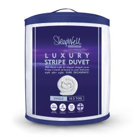 Slumberdown Sleepwell Luxury Stripe Duvet - 10.5 Tog - Single
