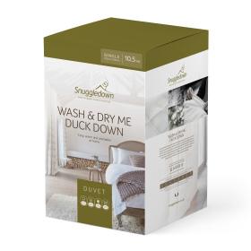 Snuggledown Wash & Dry Me Duck Down 10.5 Tog Single All Year Round Duvet