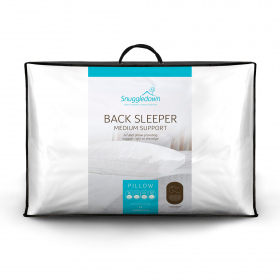 Snuggledown Back Sleeper Medium Support Pillow, 1 Pack