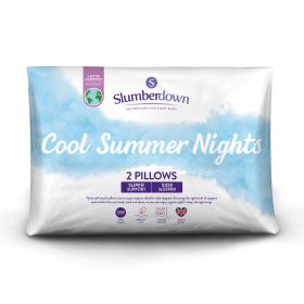 Slumberdown Cool Summer Nights Firm Support Pillow, 2 Pack