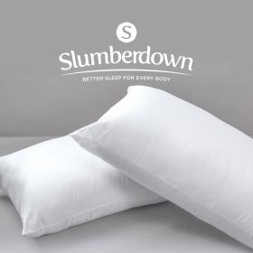 Slumberdown Secret Sale Hollowfibre Firm Support Side Sleeper Pillow, 2 Pack