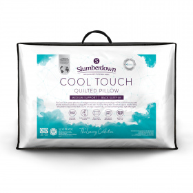 Slumberdown Luxury Cool Touch Quilted Medium Support Pillow, 1 Pack
