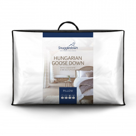 Snuggledown Hungarian Goose Down Soft Support Front Sleeper Pillow, 1 Pack