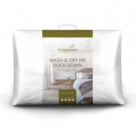 Snuggledown Wash & Dry Me Duck Down Medium Support Back Sleeper Pillow, 1 Pack