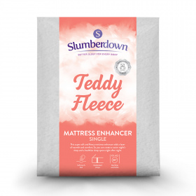 Slumberdown Teddy Fleece Mattress Enhancer, Single