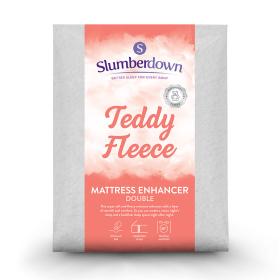 Slumberdown Teddy Fleece Mattress Enhancer, Double