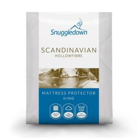 Snuggledown Scandinavian Hollowfibre Mattress Protector - King
