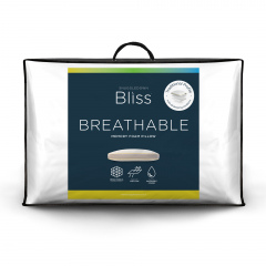 Snuggledown Bliss Memory Foam Firm Support Pillow, Breathable Cover