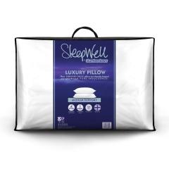 Slumberdown Sleepwell Luxury Embossed Stripe Medium Support Pillow