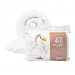 Boston Kids Crew Natural Duck Feather & Down Bed Set