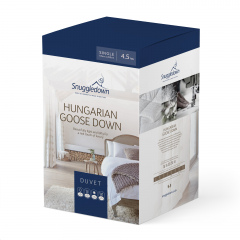 Snuggledown Hungarian Goose Down Duvet - 4.5 Tog - Single