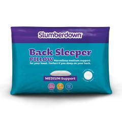 Slumberdown Back Sleeper Medium Support Pillow, 1 Pack