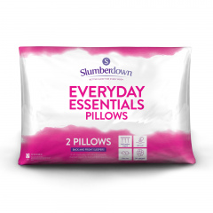 Slumberdown Everyday Essentials Medium Support Pillow, 2 Pack