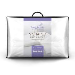 Snuggledown V Shape Firm Support Pillow, 1 Pack