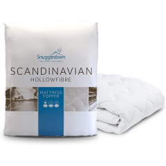 Snuggledown Scandinavian Hollowfibre Mattress Topper - Double
