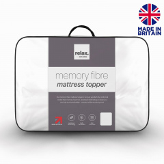John Cotton Relax Memory Fibre Mattress Topper - Single - RRP £60.00