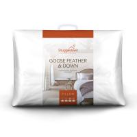 Snuggledown Goose Feather & Down Medium Support Back Sleeper Pillow