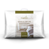 Snuggledown Wash & Dry Me Duck Down Medium Support Back Sleeper Pillow